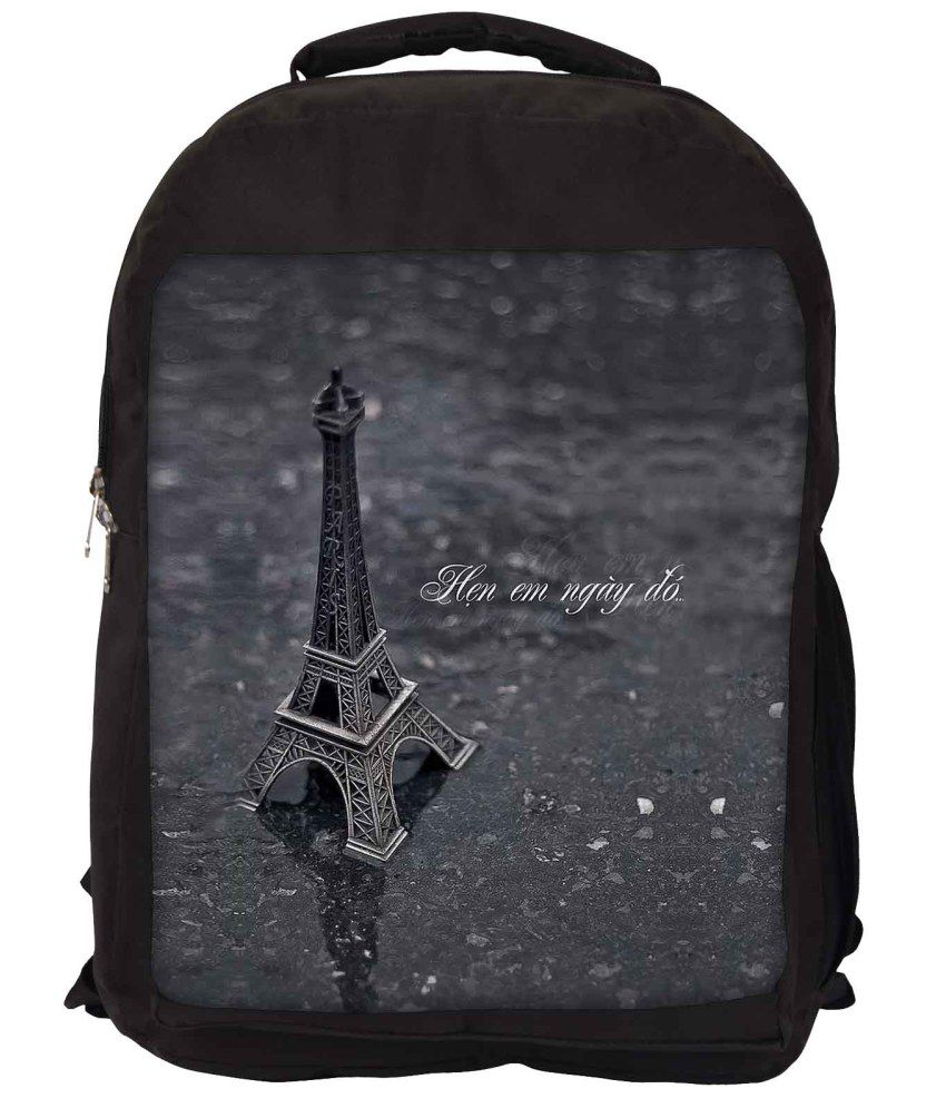 Snoogg Grey Nylon Laptop Backpack