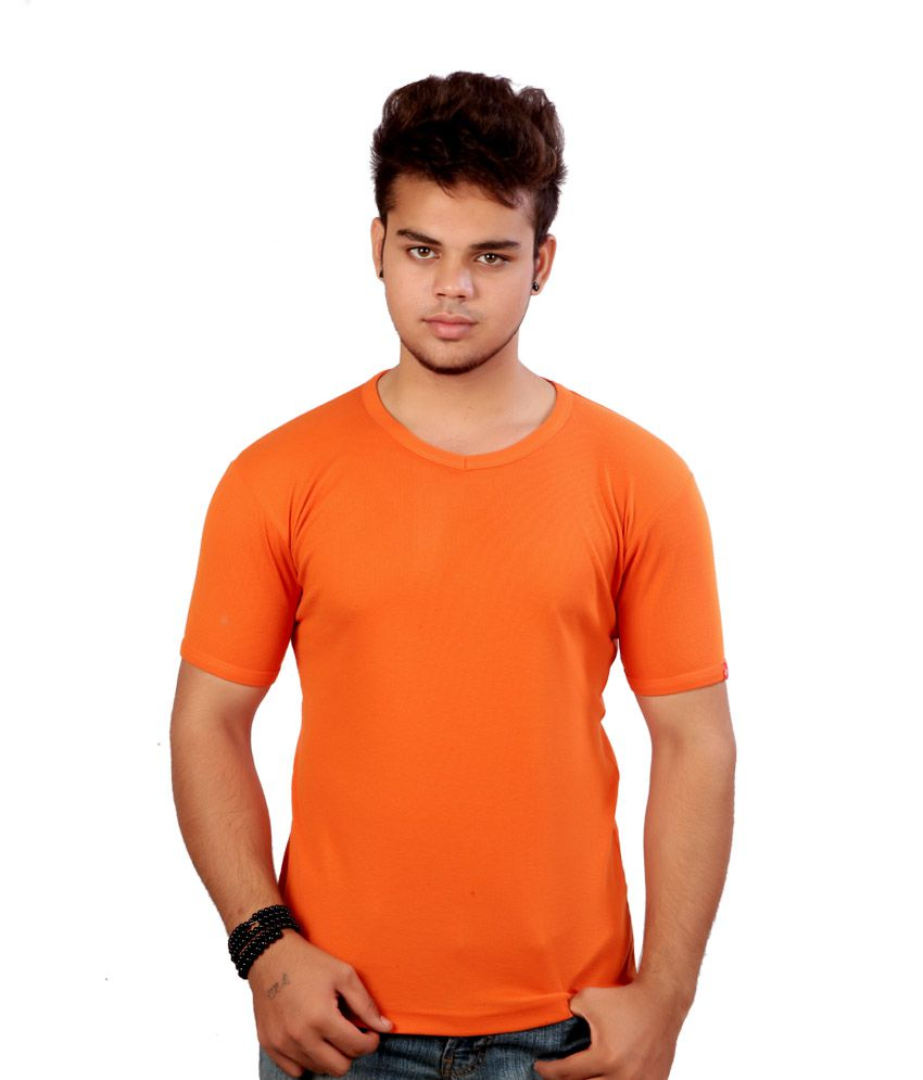 Chakra Orange Cotton T-shirt