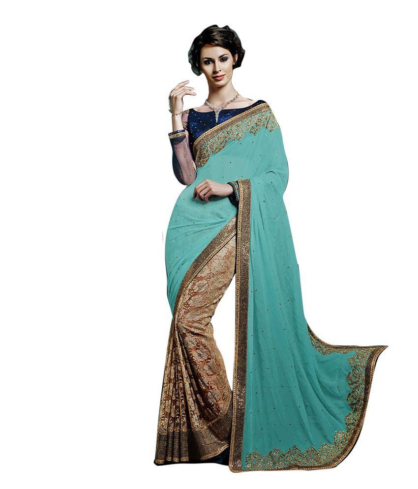 8327f3860e K P Blue Designer Net Saree - Buy K P Blue Designer Net Saree Online at Low  Price - Snapdeal.com
