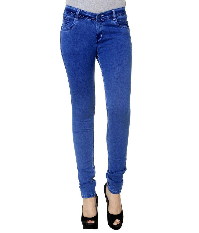 R J Fashion Blue Cotton Jeans