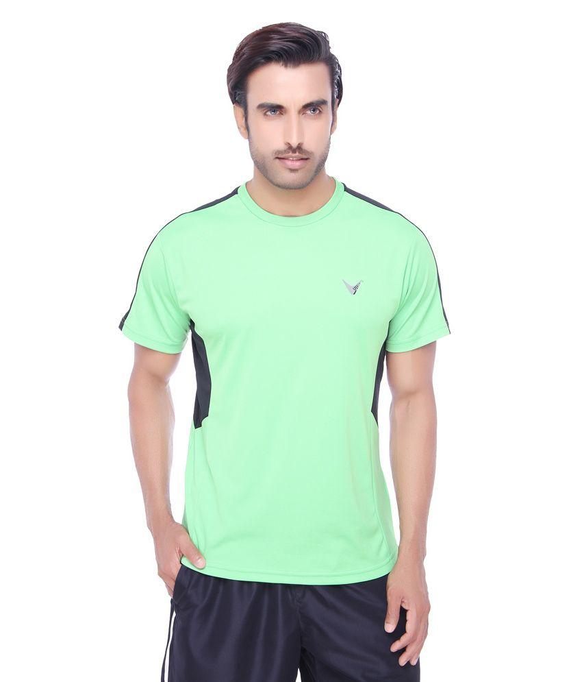 Valentine Men's Pique Fabric Sports T-Shirt-Green