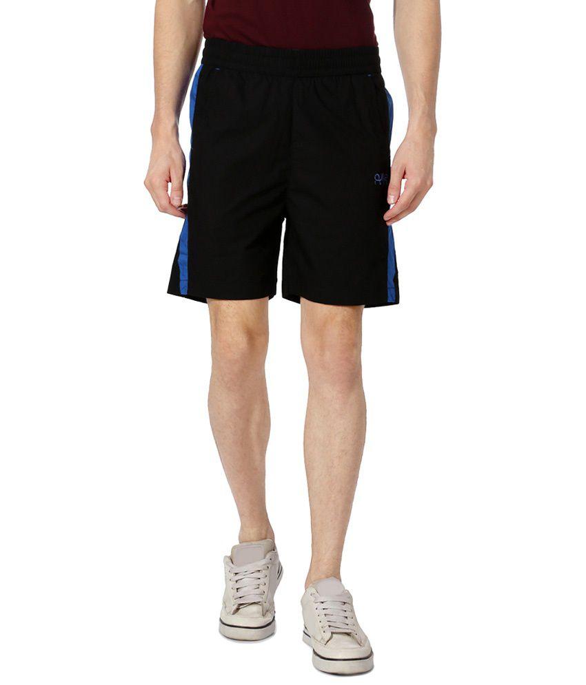 Ajile by Pantaloons Black & Blue Casual Activewear Shorts