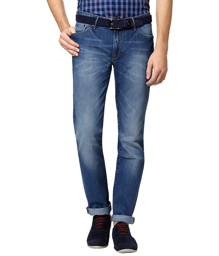 Allen Solly Blue Solid Casual Jeans