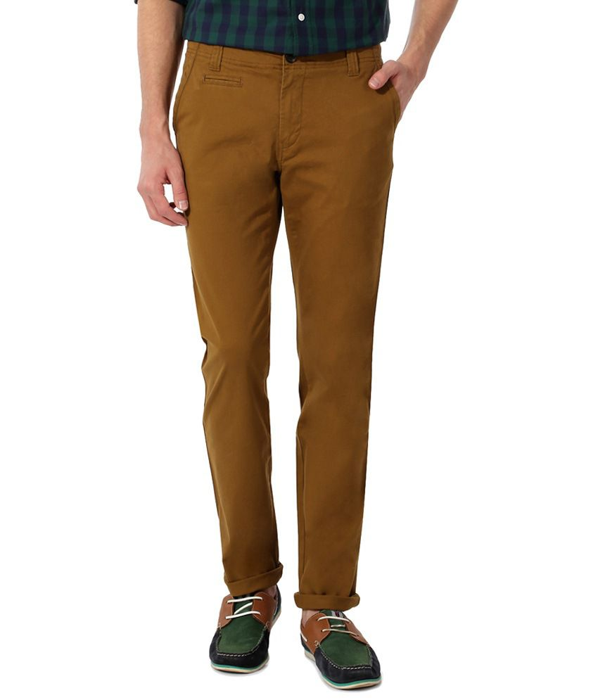 Byford by Pantaloons Brown Trousers