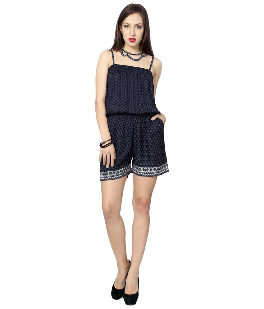 3d30b892f92e People Navy Blue Daily Wear Short Jumpsuit - Buy People Navy Blue Daily  Wear Short Jumpsuit Online at Best Prices in India on Snapdeal