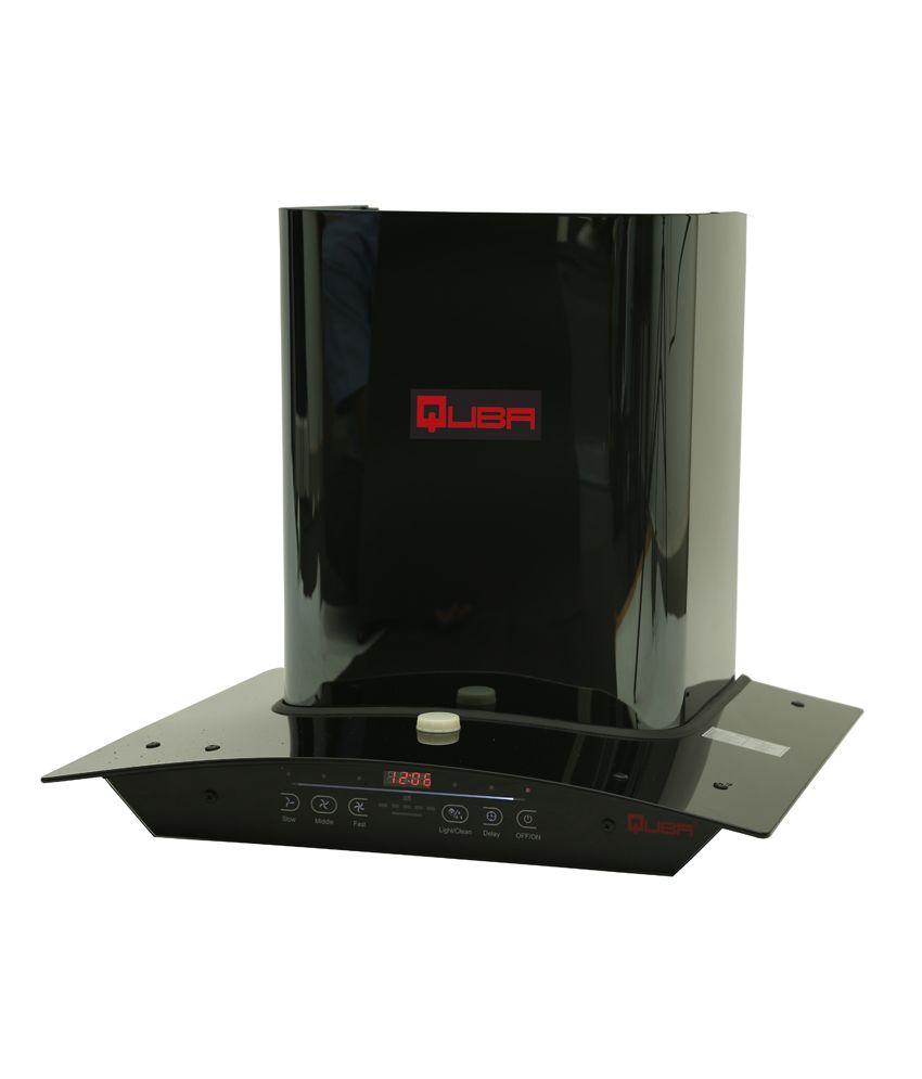 Quba 60cm 1200 M3/h Suction Auto Clean Range Hood 5515 Hood Chimney Black