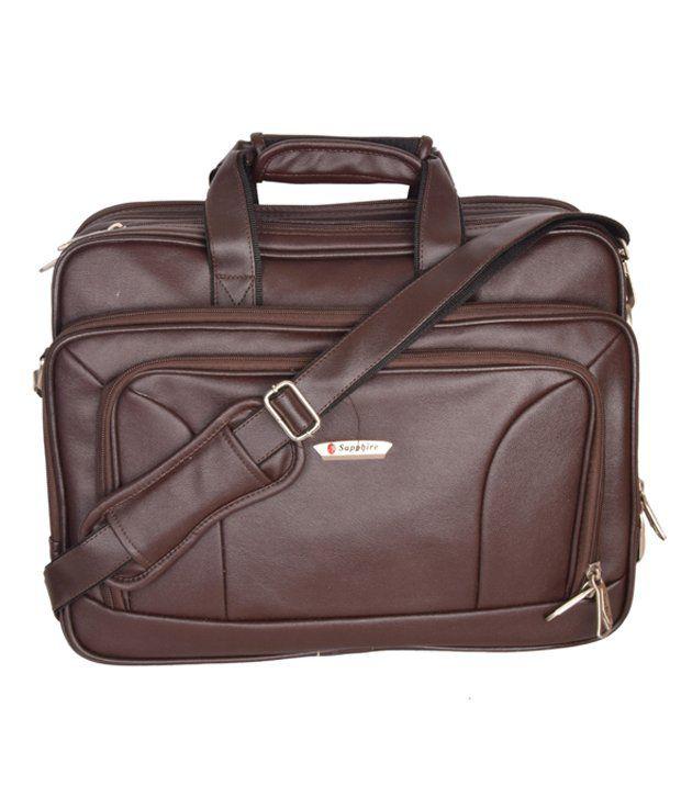 Sapphire Brown Laptop Messenger Bag