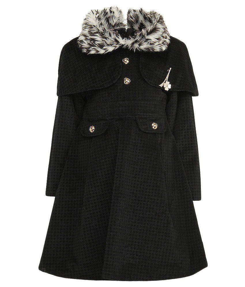 Little Kangaroos Black Trench Coat