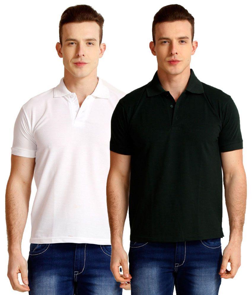 Nimya White Cotton Blend T-shirt - Pack Of 2