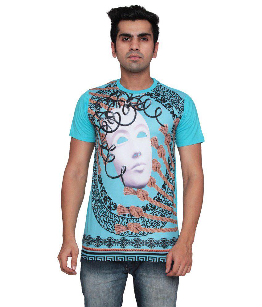 Ddi Blue Cotton Blend T-Shirt