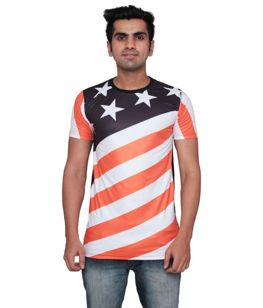 Ddi Multicolour Cotton Blend T-Shirt