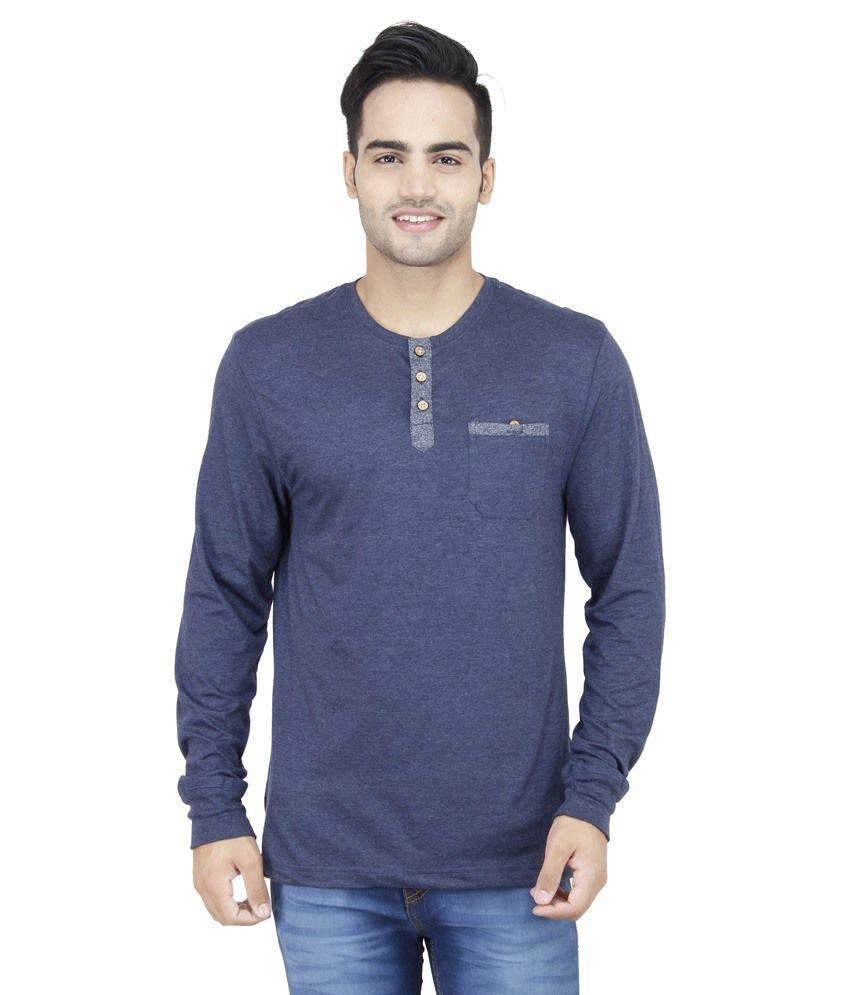 Feels Good Blue Cotton T-Shirt
