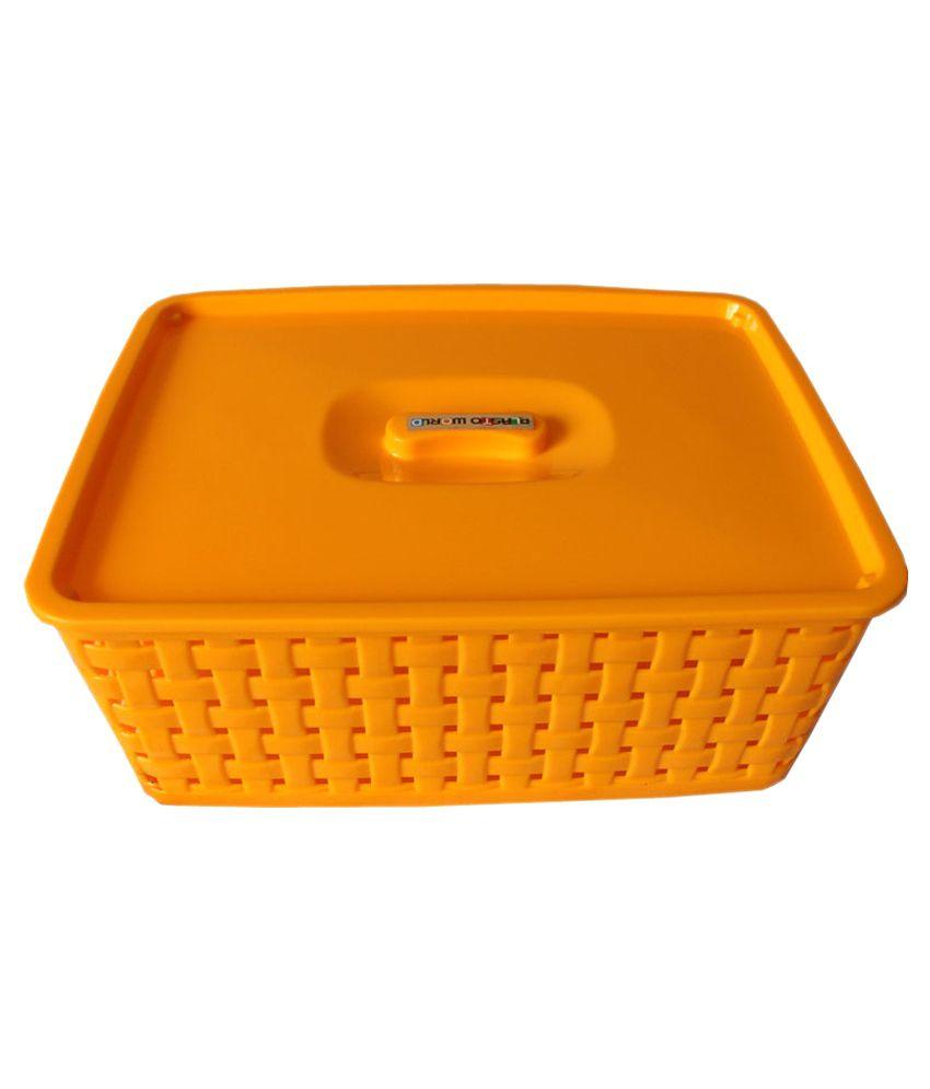 sélection premium 16303 6d9f9 Oasis Yellow Plastic Multipurpose Basket