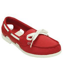 Crocs Red Casual Shoes Relaxed Fit