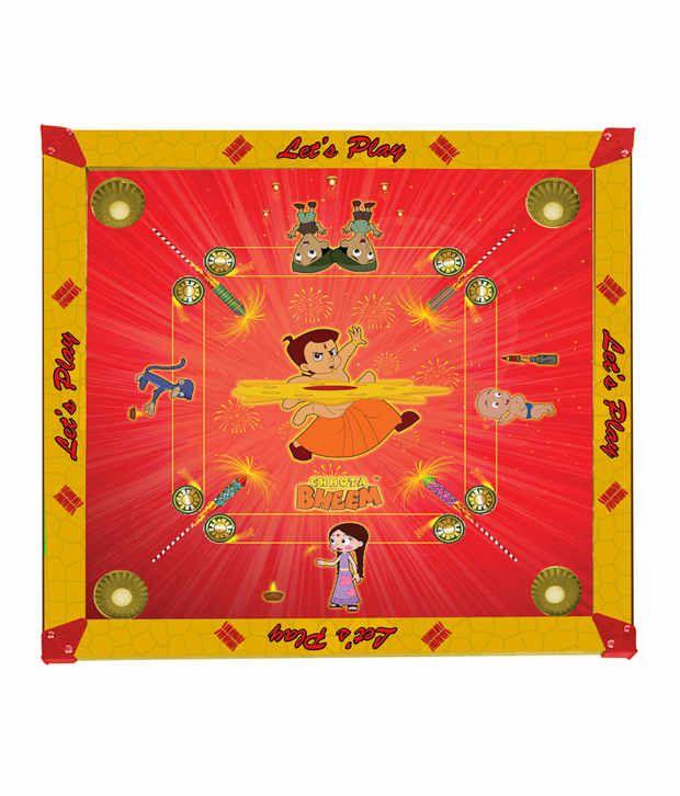 Taneja Enterprises Chota Bheem Carrom Board 2 In 1