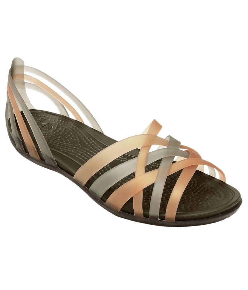 d38bccb44318e Crocs Brown Flat Slip-on & Sandal Relaxed Fit Price in India- Buy Crocs  Brown Flat Slip-on & Sandal Relaxed Fit Online at Snapdeal