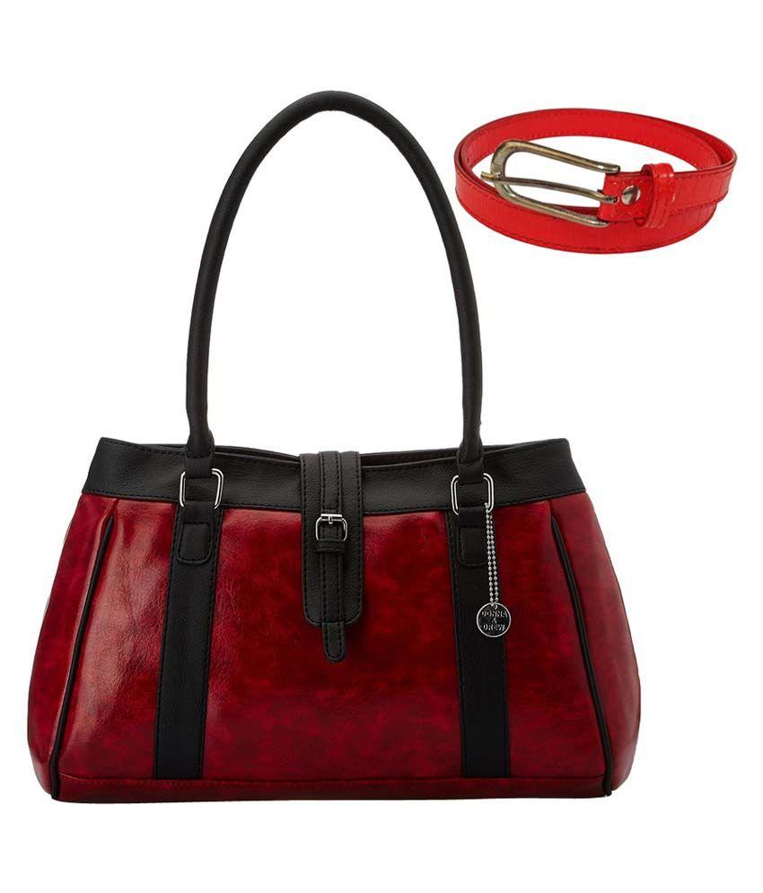 Donna & Drew Red Hobo Bag