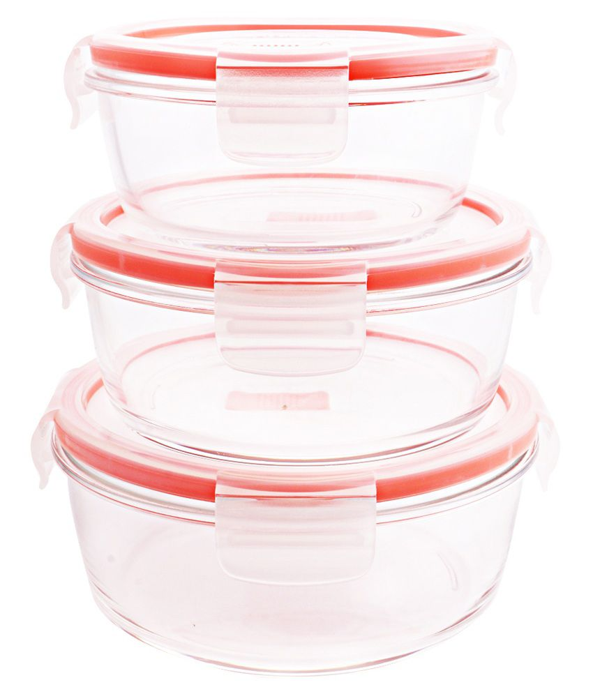 Luminarc Red Mirror Finish Containers - Set of 3