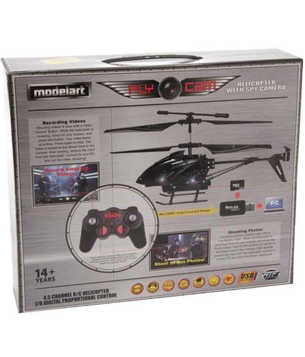 Modelart 4.5 Channel Helicopter with Camera Black