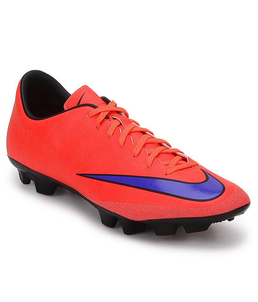 Nike Mercurial Victory V Hg-V Red Sports Shoes - Buy Nike Mercurial Victory  V Hg-V Red Sports Shoes Online at Best Prices in India on Snapdeal 3b1caa661