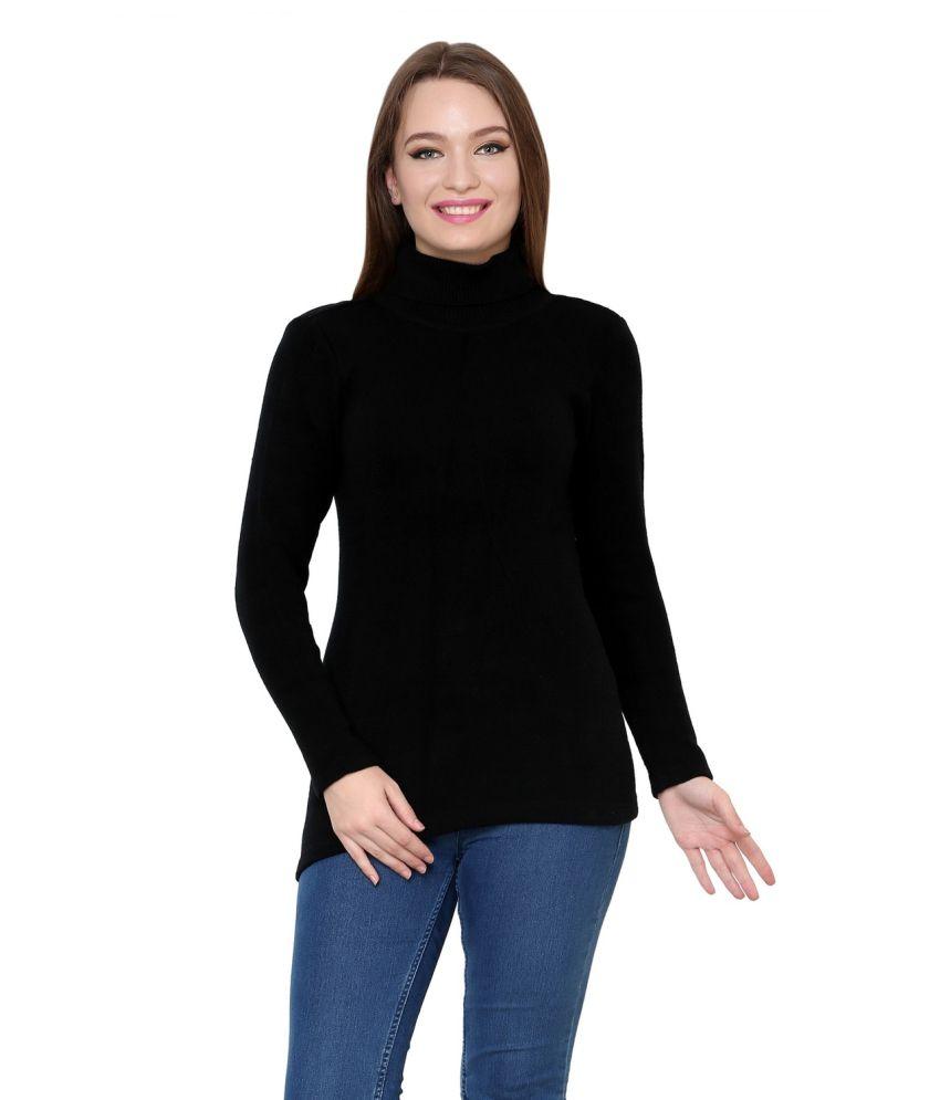 Renka Black Acrylic Pullovers
