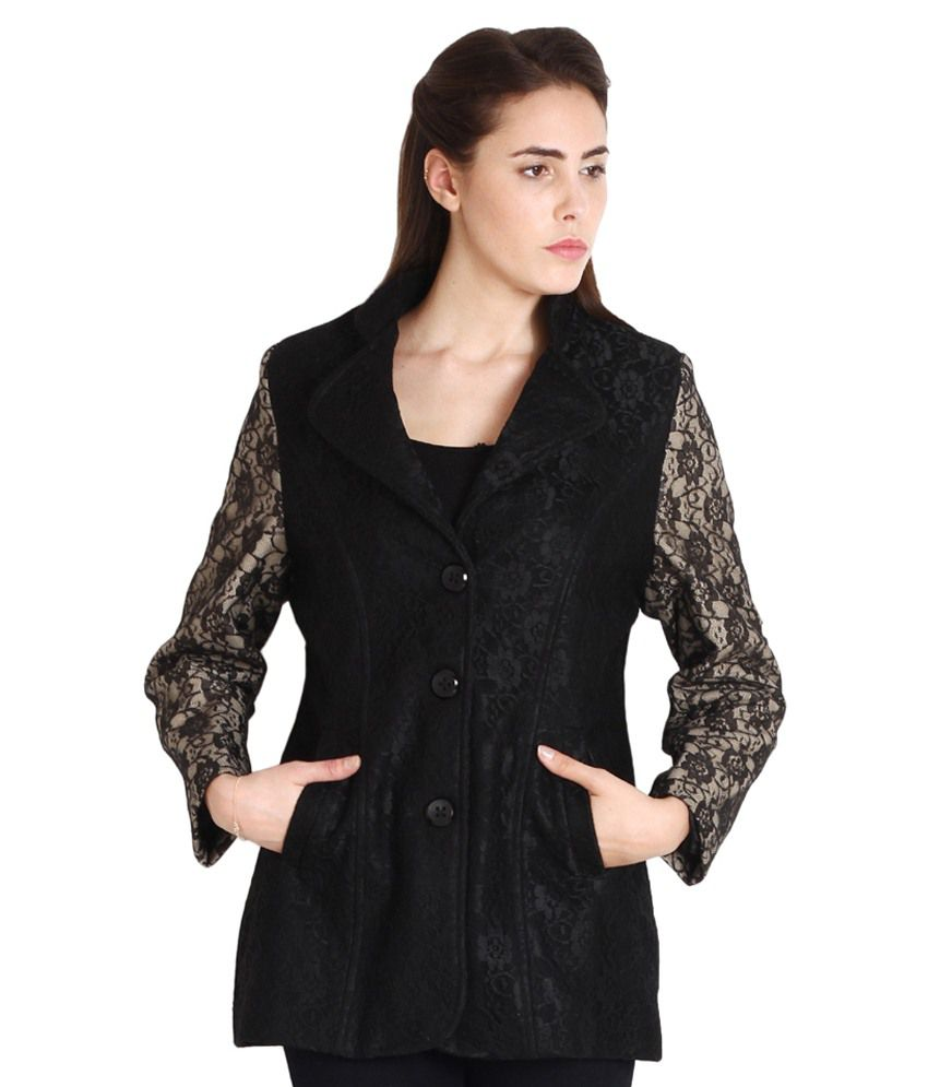 e1bc769df Soie Half Sleeve Solid Women's Jacket Price in India | Buy Soie Half ...