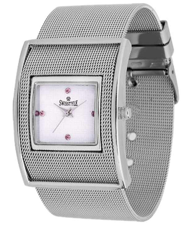 Swisstyle Silver Strap Analogue Wrist Watch for Women