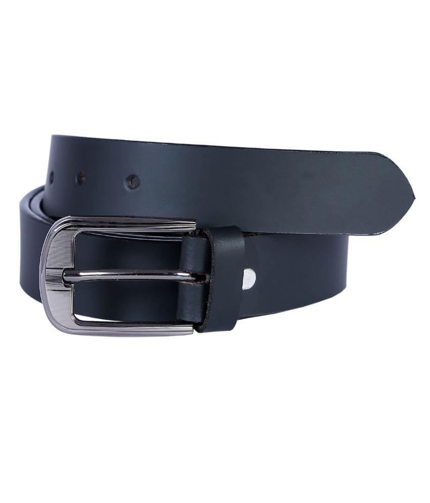 Hardy's Collection Black Leather Formal Belt For Men