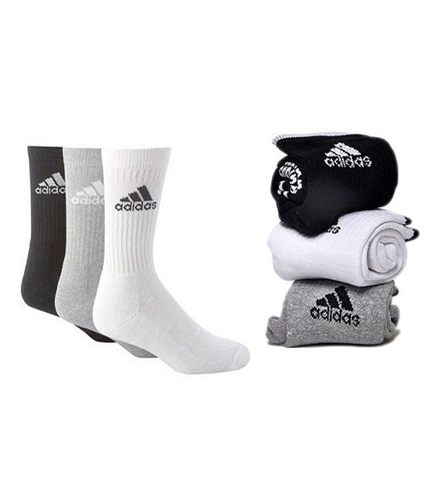 Adidas Multicolour Cotton Full Length Socks (3 Pair Pack)