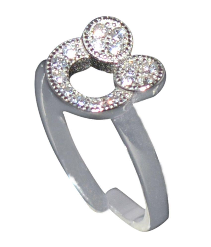Kataria Jewellers Adjustable Ring in 92.5 BIS Hallmarked Sterling Silver