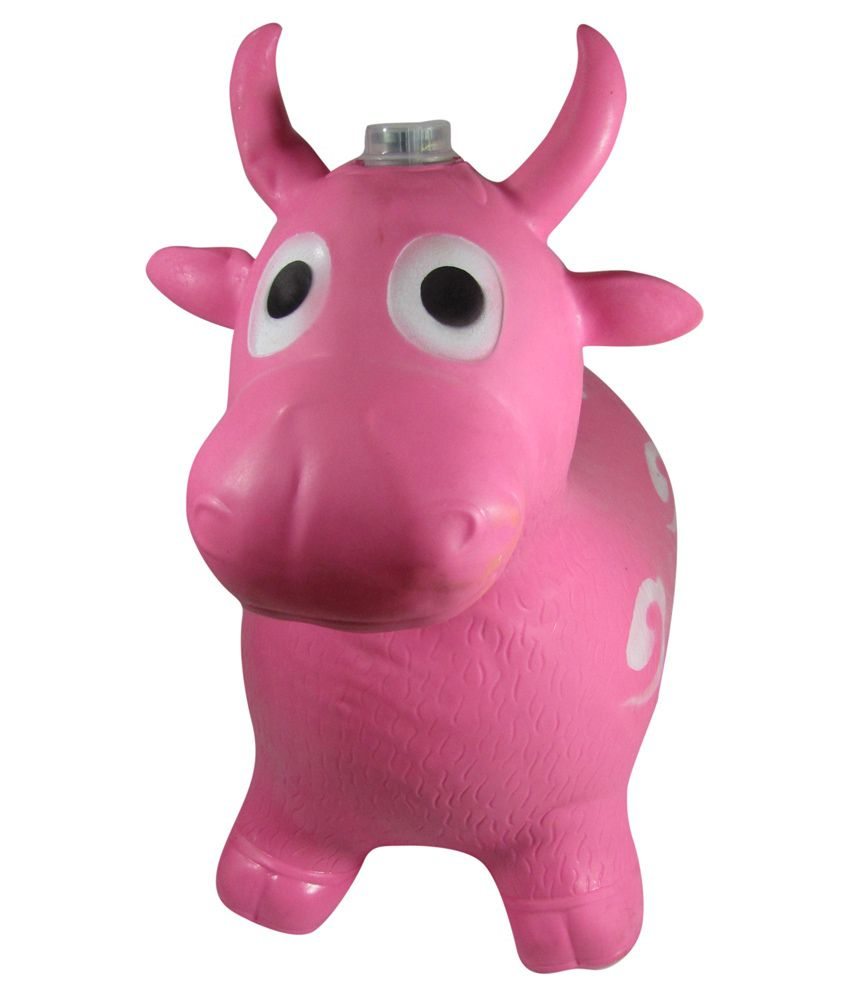 Tickles Pink Jumping Bull