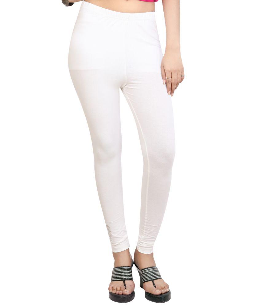 8ed47714e52e5 CityLife White Cotton Leggings Price in India - Buy CityLife White Cotton Leggings  Online at Snapdeal