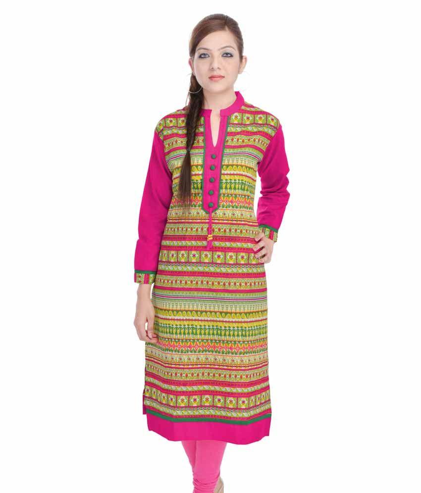 Colours Rajasthan Multi Cotton Kurti