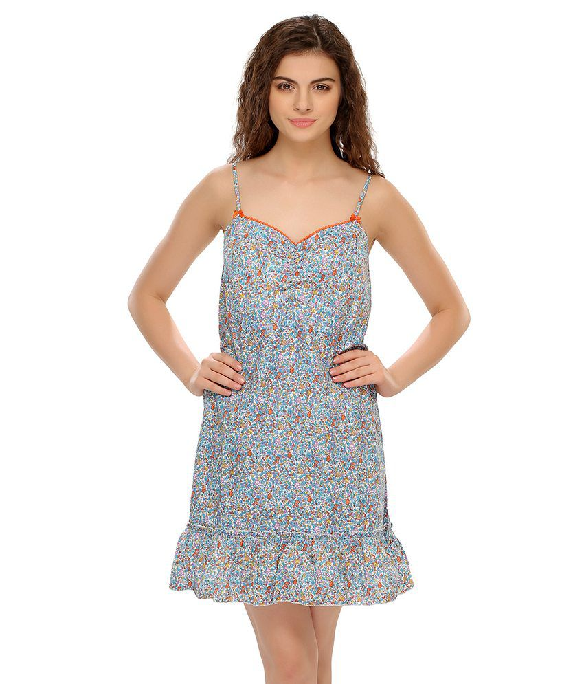 f37800bc9e ... Clovia Blue Cotton Nighty ... for whole family bf288 300a0  Masha Womens  ...