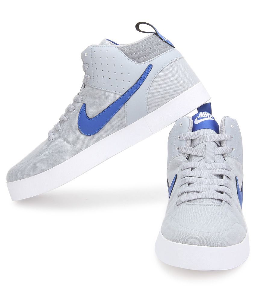 ... nike liteforce iii mid sl gray casual shoes