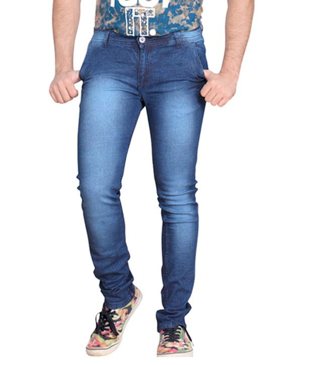 Private Image Blue Slim Fit Jeans
