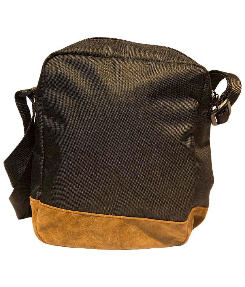 83af9d7da70 Puma Black & Yellow Suede Sling Bag - Buy Puma Black & Yellow Suede ...