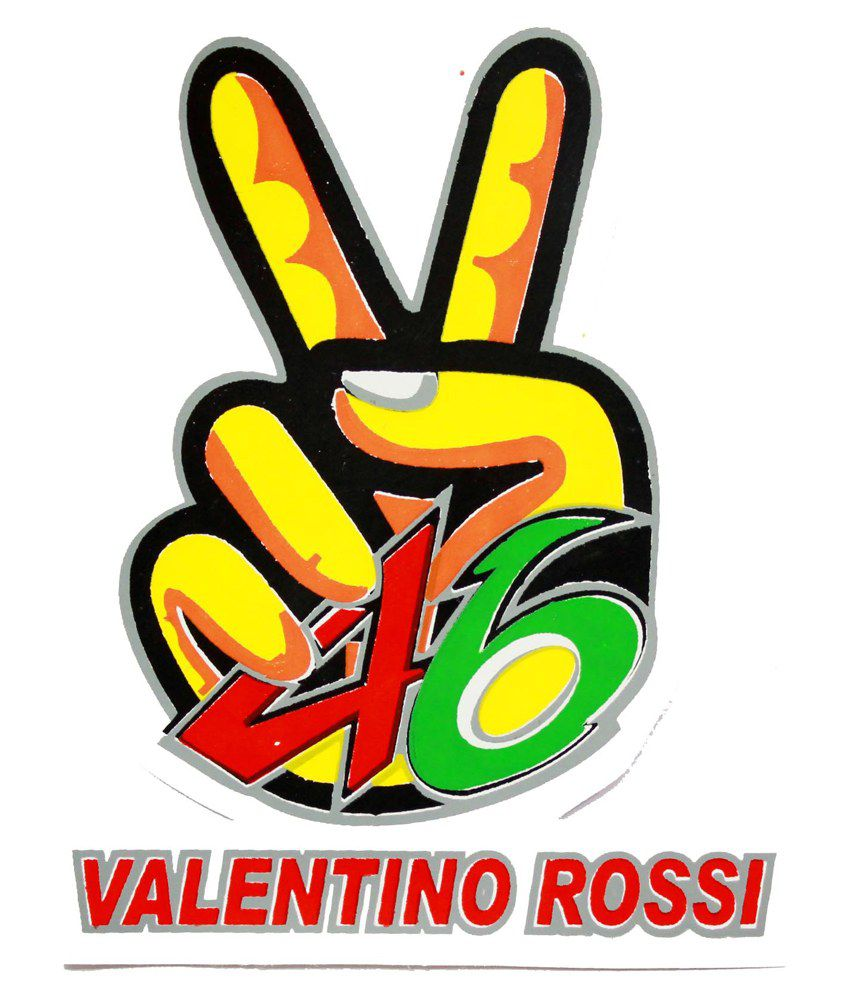 Bliss junkies multicolour valentino rossi decal sticker for bike buy bliss junkies multicolour valentino rossi decal sticker for bike online at low price