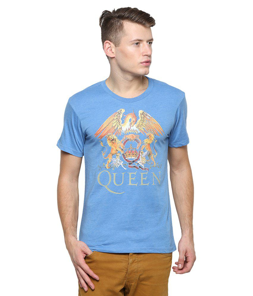 Free Authority Blue Cotton T-Shirt