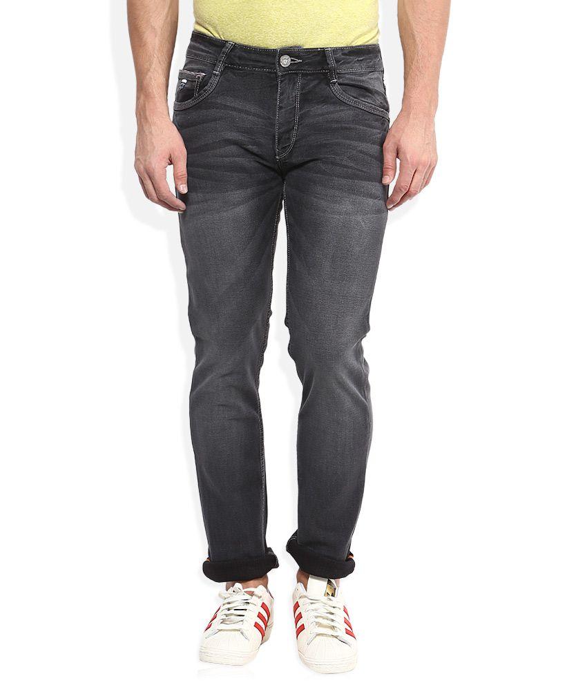 John Players Grey Medium Wash Slim Fit Jeans