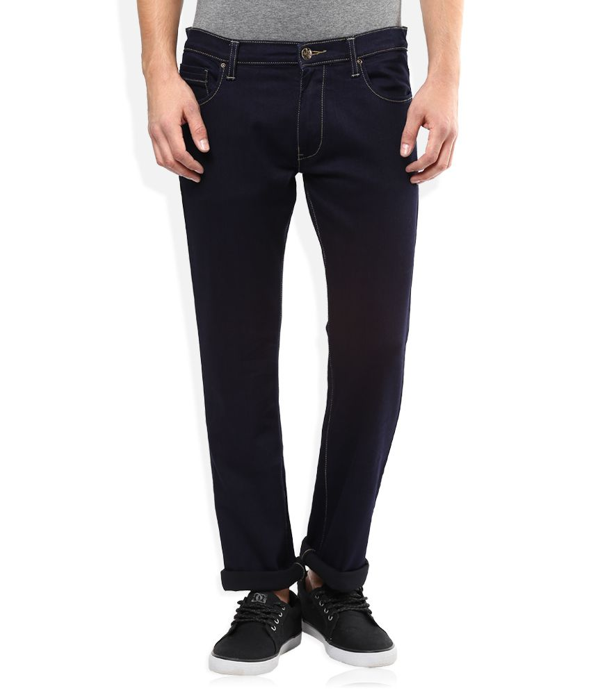 Lee Navy Raw Denim Slim Fit Jeans