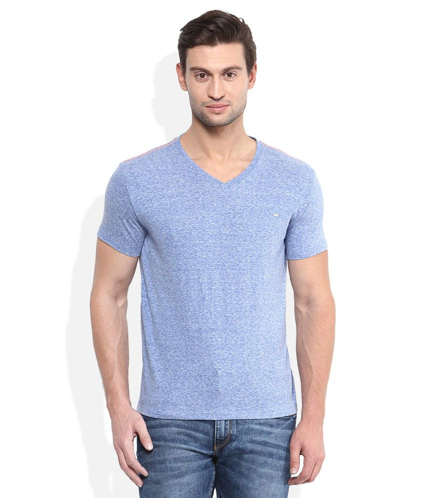 Lee Blue V-Neck T-Shirt