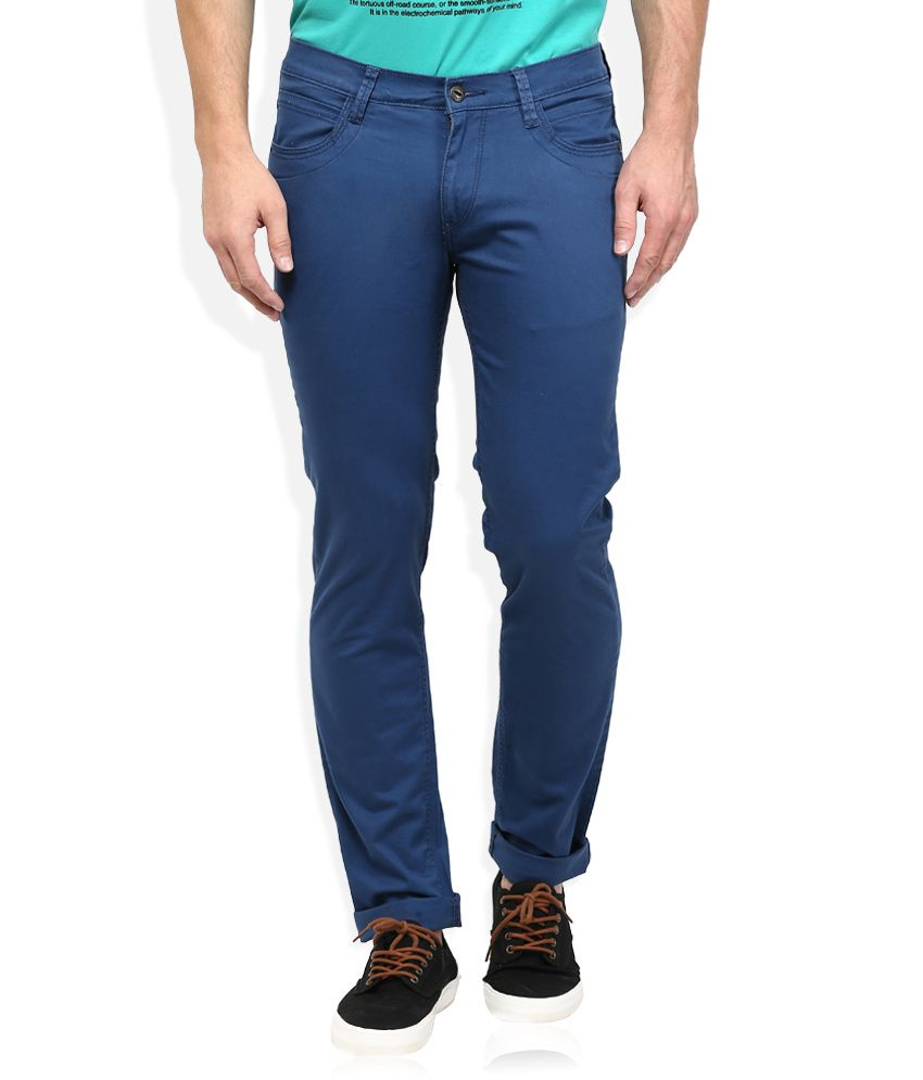 Lee Navy Slim Fit Trousers