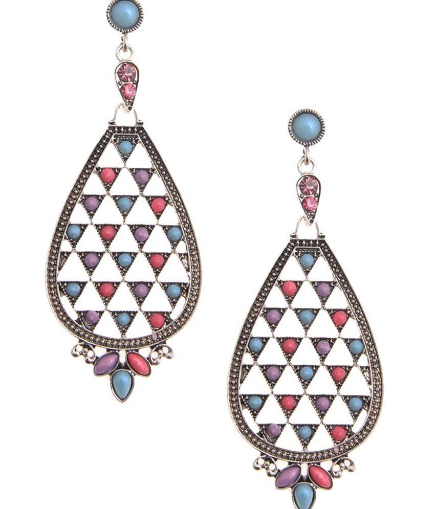 NIROSHA Multicolor Boho Chic Contemporary Earrings for Women