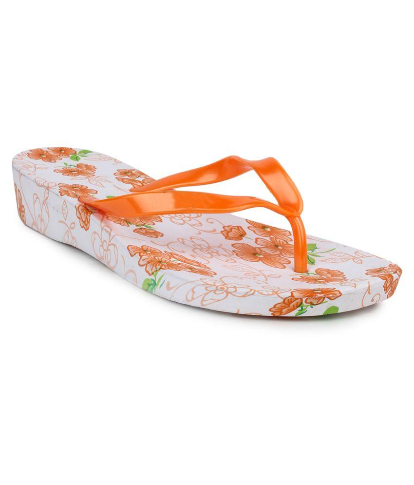 11e Orange Flip Flops