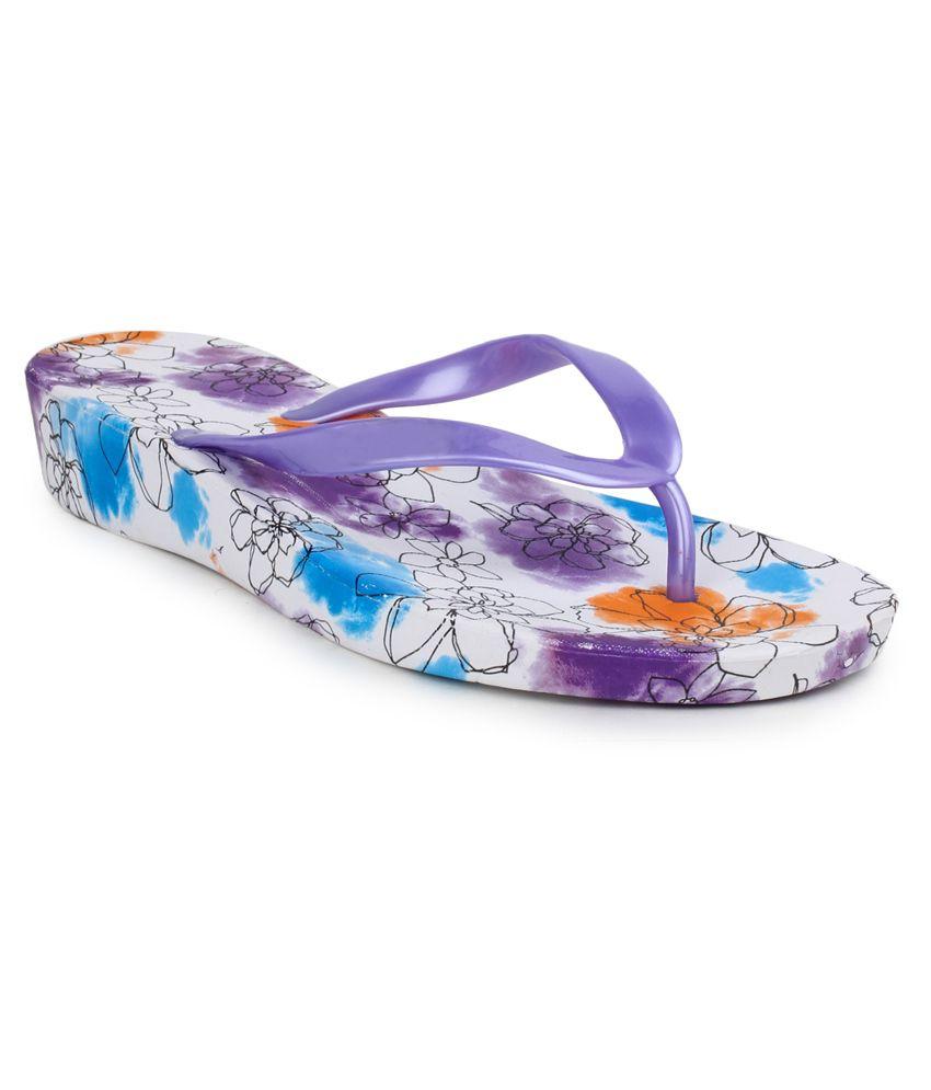 11e Purple Flip Flops