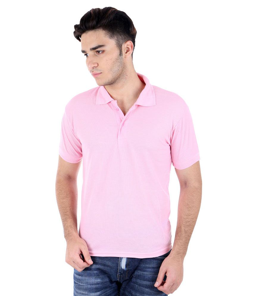 Christy World Pink Cotton Polo T Shirt