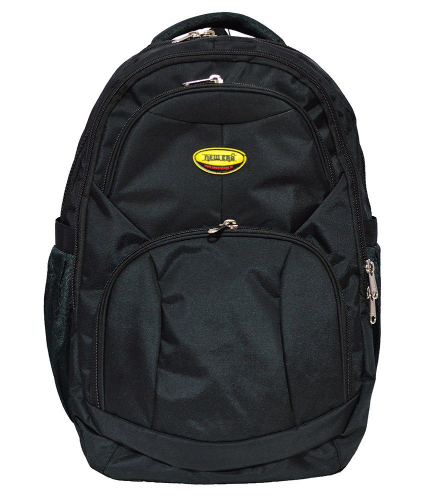 Newera Black Polyester Laptop Backpack