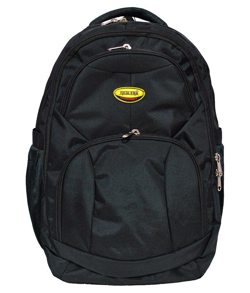 Newera Black Polyester Laptop Backpack