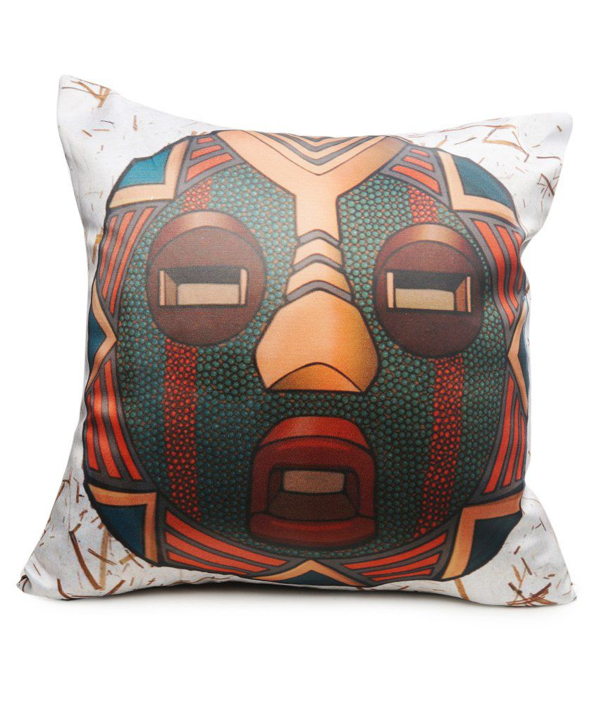 Nostaljia Multicolour Digital Printed Polyester Filled Cushion